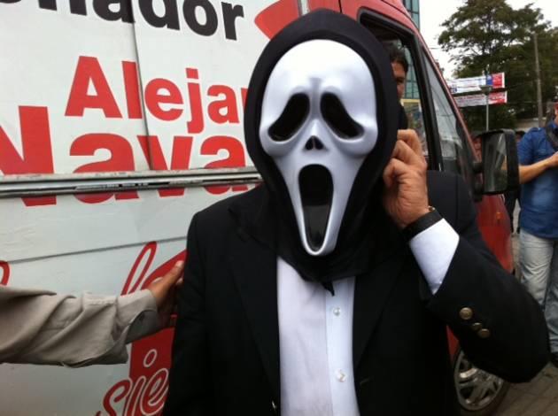 Senador Navarro y su máscara | Pedro Cid (RBB)