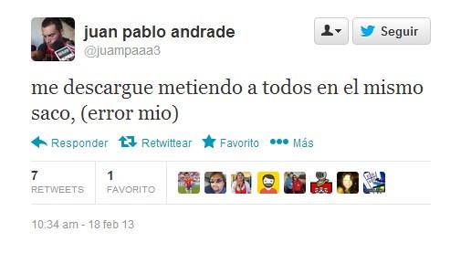 Juan Pablo Andrade en Twitter | @juanpaa3
