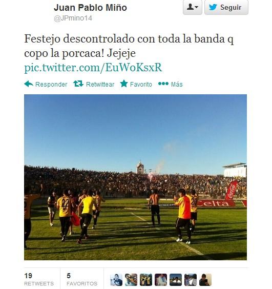Juan Pablo Miño en Twitter | @JPmino14