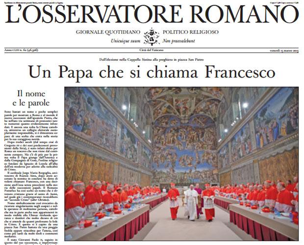 Periódico L'Osservatore Romano