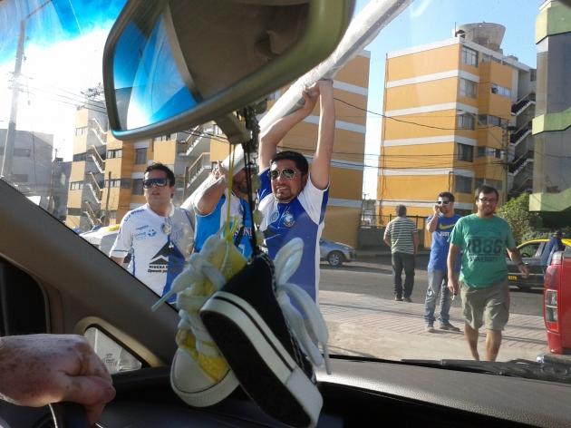 Problemas salida estadio Antofagasta. | Roberto Vásquez