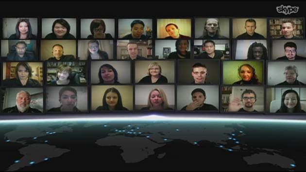 Anita, en la esquina superior izquierda | Skype