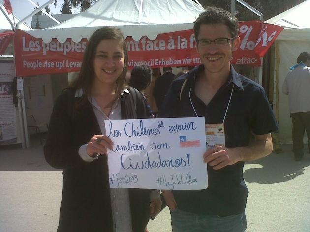 Desde Tunez por el voto de l@s chilen@s del exterior | Rodrigo Olavarria