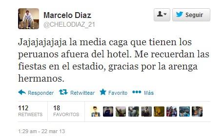 Marcelo Díaz en Twitter | @CHELODIAZ_21