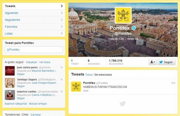 Pontifex en Twitter