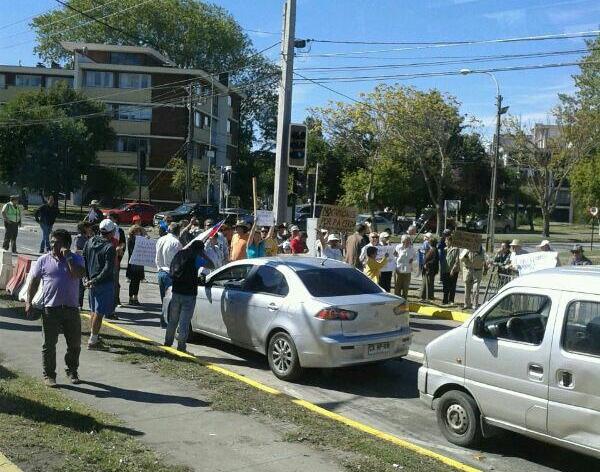 Protesta por transito en Pedro Aguirre Cerda   Viviana Bilbao
