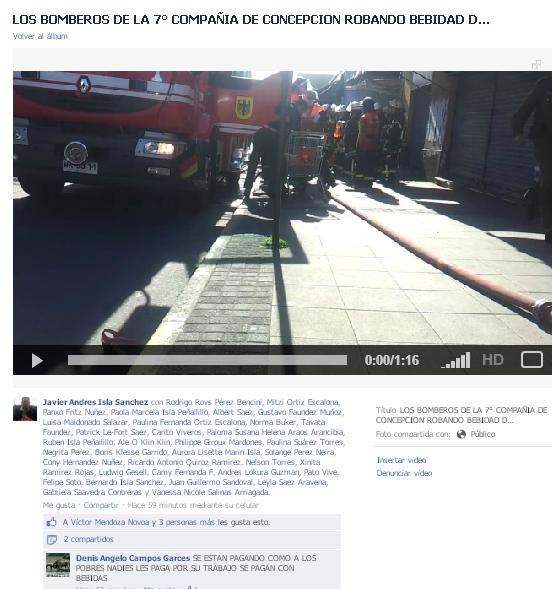 Video difundido en Facebook