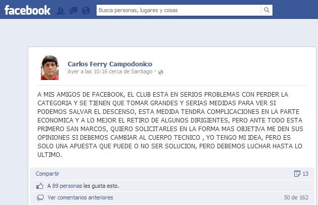 Carlos Ferry en Facebook