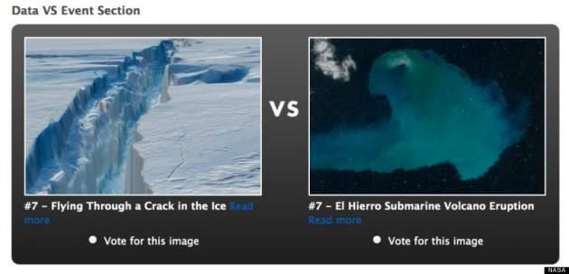 La ruptura del glaciar Pine Island y El Hierro | NASA