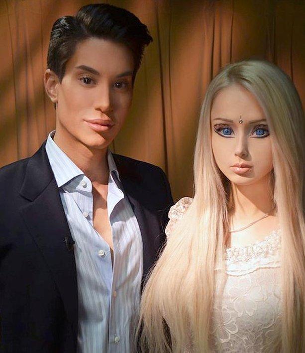 Valeria Lukyanova y Justin Jedlica | The Sun
