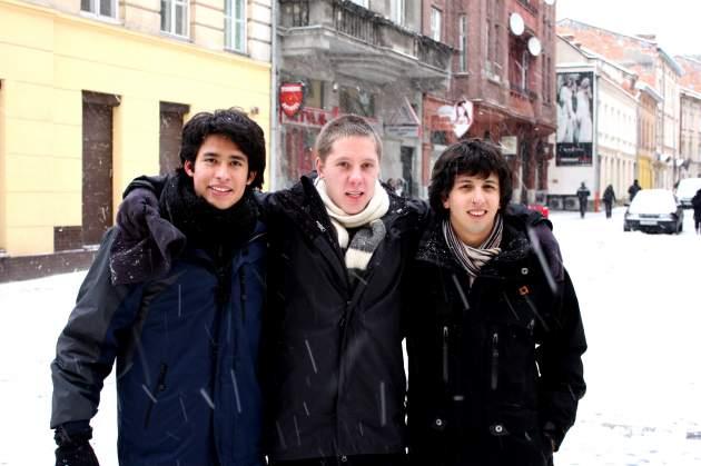 Izq. a der: Daniel (México), Steve (Sudáfrica) y Francisco