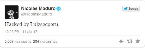 Hackeo a Twitter de Nicolás Maduro