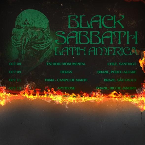 Black Sabbath en Brasil y Chile