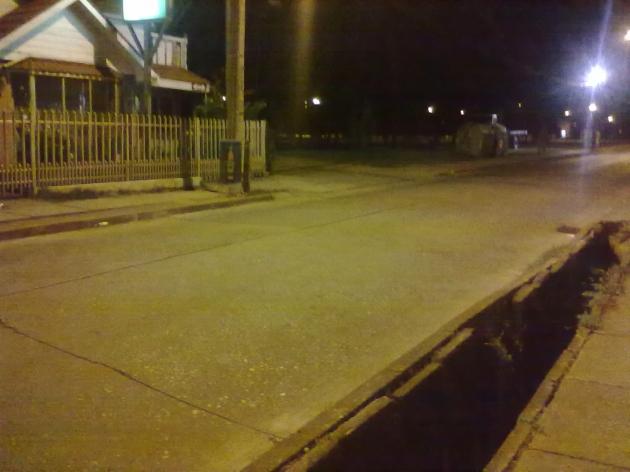 Peligroso estado de la calle en Talcahuano | Ivonne Rodriguez