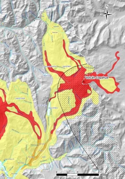Mapa de riesgo del volcán Copahue | Sernageomin