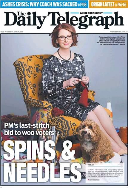 Imagen recogida por la portada de The Daily Telegraph