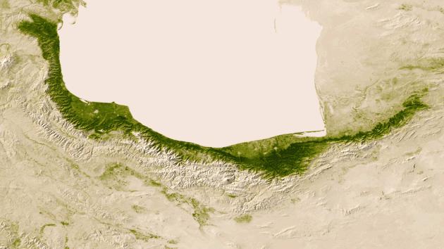 Los límites climáticos en Irán   NASA/NOAA