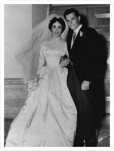 Elizabeth Taylor y su primer marido
