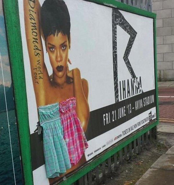 Rihanna censurada   Twitter/charlenelydon