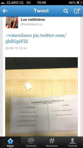 Luz Valdivieso en twitter