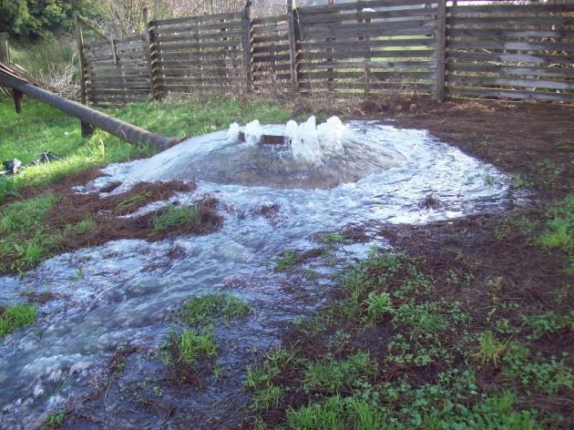 Derrame de aguas servidas a estero en Villa Pilmaiquén | Miriam Huaiquilao