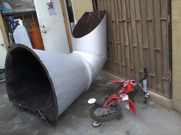Caída de chimenea | Juan Riquelme Plaza