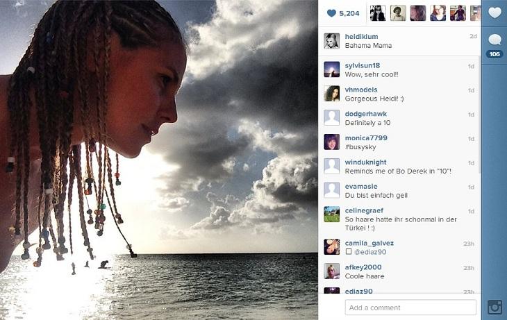 Heidi Klum en Bahamas | Instagram