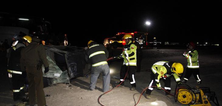 Familia muere en accidente de tránsito en ruta que une Antofagasta