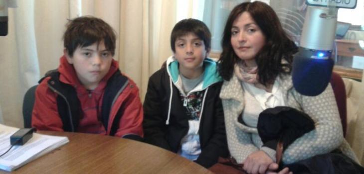 Los pequeños deportistas y su madre | Cristian Cerna (RBB)