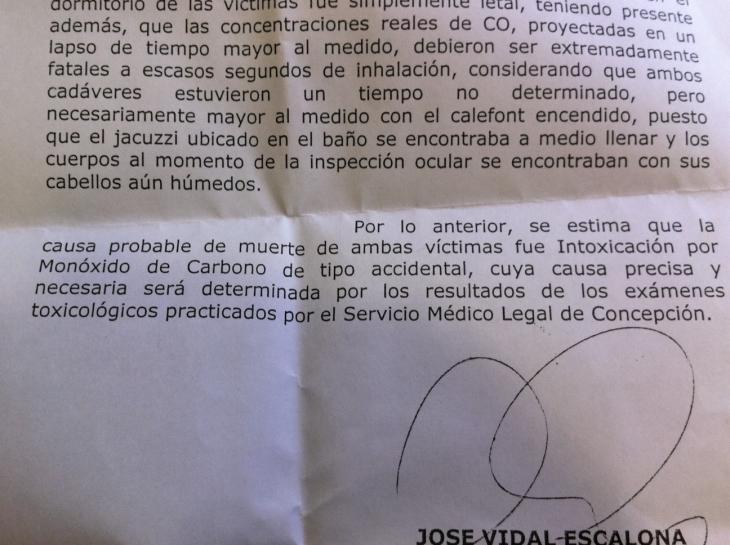 Extracto informe | Pedro Cid (RBB)