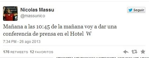 Twitter Nicolás Massú