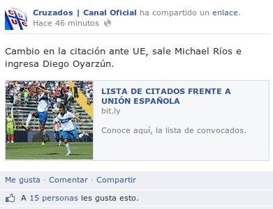 Cruzados Oficial | Facebook