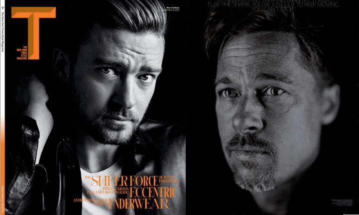 Justin Timberlake (nytimes.com) | Brad Pitt (wmagazine.com)