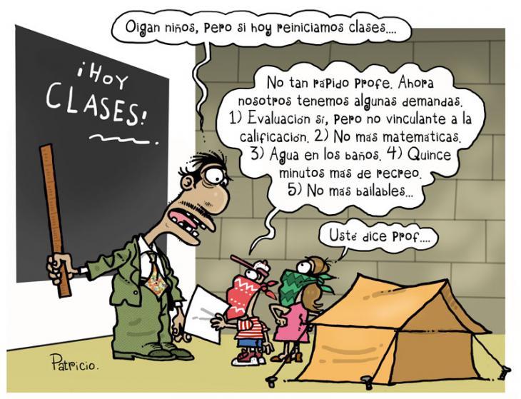 Demandas tras el paro de profesores