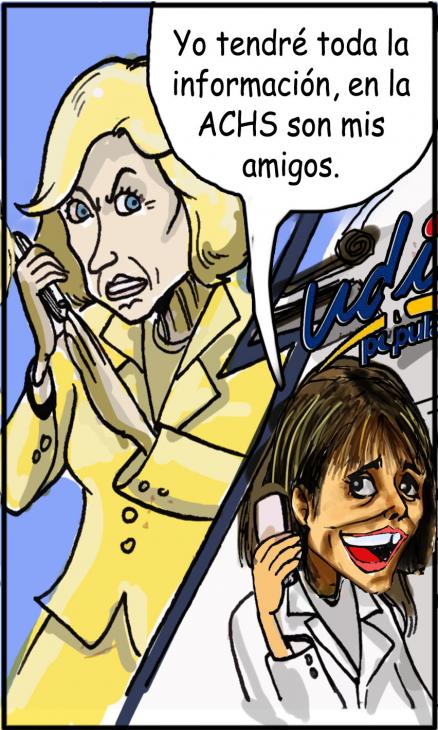 Caricaturas de Matthe y Van Rysselberghe | Prensa senador Alejandro Navarro