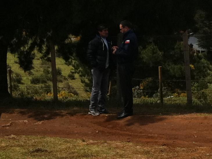 Ministro Hinzpeter y ex futbolista Rubén Espinoza | Pedro Cid (RBB)