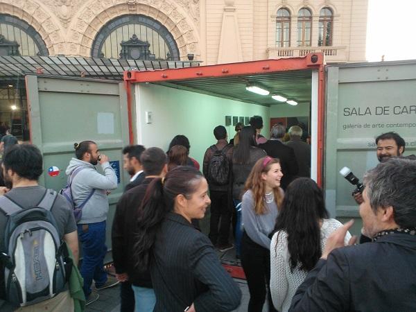 Sala de Carga Container de Artes Visuales