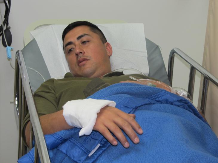 Uno de los funcionarios heridos | Carlos Martínez (RBB)