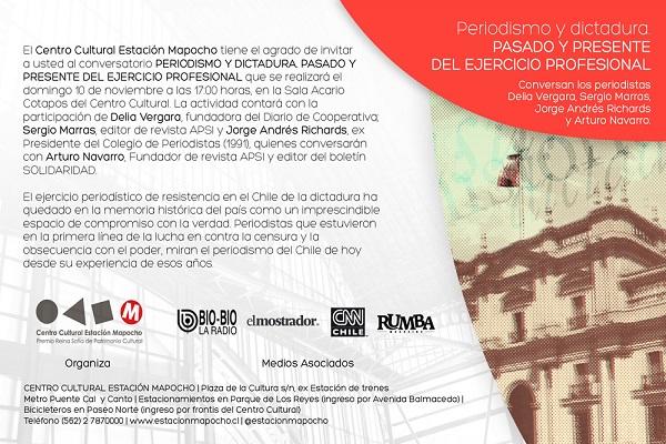 Invitación Mesa Periodismo en Dictadura