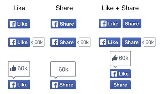 Las presentaciones de los botones | Facebook Developers