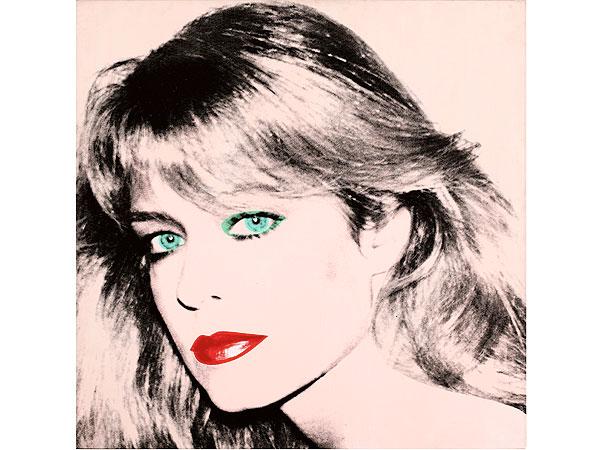 Retrato de Farrah Fawcett hecho por Andy Warhol