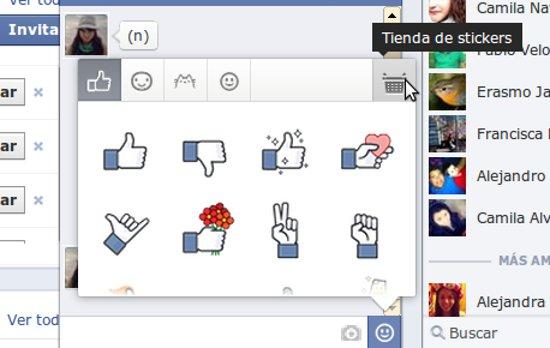 Acceso a la 'Tienda de Stickers' | Facebook