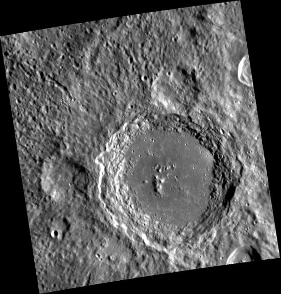 Imagen del cráter Lennon | NASA