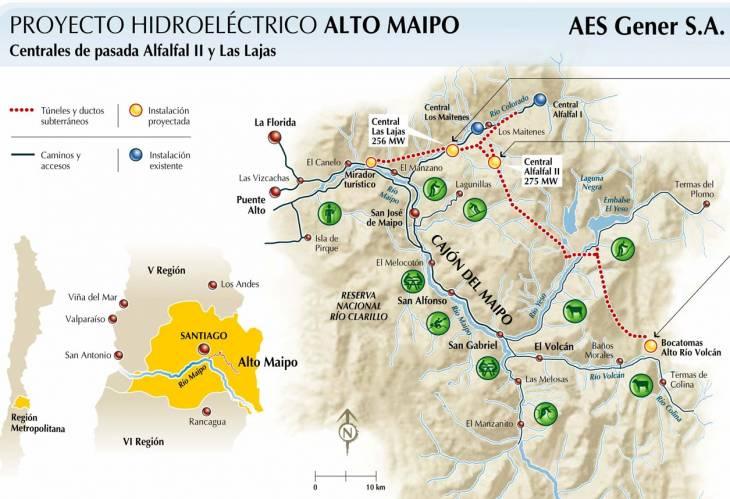 Infografía Alto Maipo   AES Gener