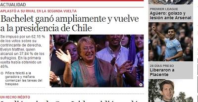 Portada El Clarín Argentina