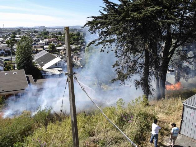 Fuego en cerro el golf | Jorge Ortega