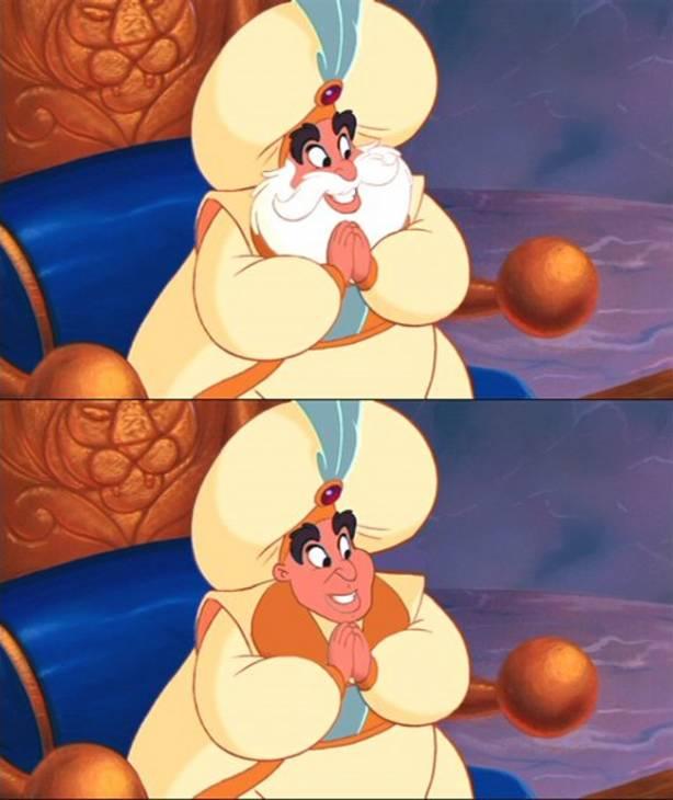 El sultán (Aladino) | Annie Erskine