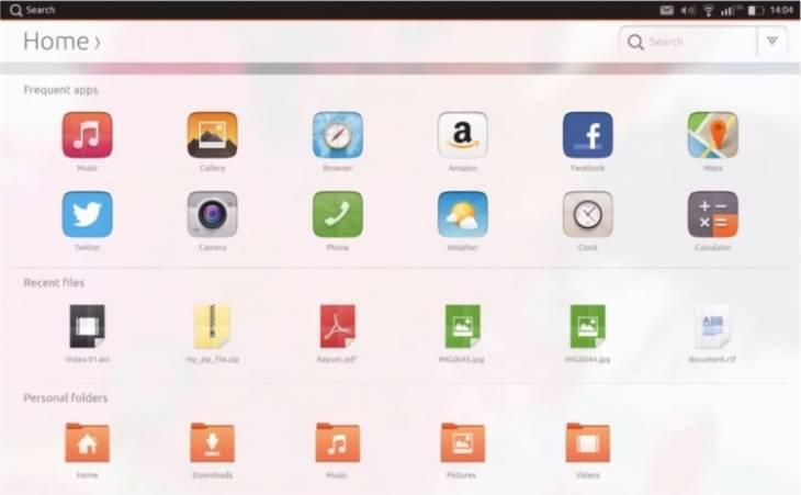 Ubuntu en su versión Tablet