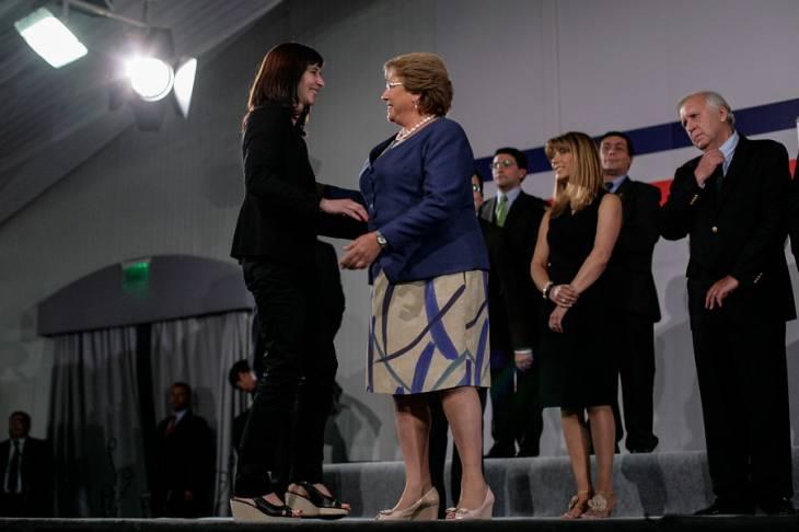 Natalia Riffo y Michelle Bachelet | David von Blohn/Agencia UNO