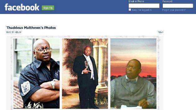 Thaddeus Matthews en Facebook